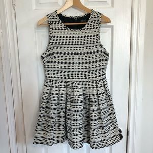 Topshop | Fit & Flare Black & White Dress | 8